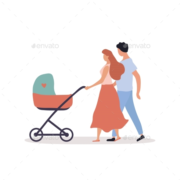 Young Parents with Pram