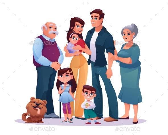 Relatives Family Portrait