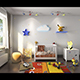3D scene kids bedroom interior - 3DOcean Item for Sale