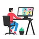 Man Working at Home - GraphicRiver Item for Sale