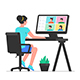 Woman Working at Home - GraphicRiver Item for Sale