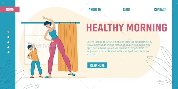 Healthy Morning Workout Exercise Landing Page