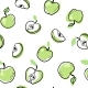 Seamless Doodle Pattern of Apples - GraphicRiver Item for Sale