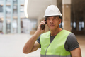 Construction Foreman Speaking by Smartphone - PhotoDune Item for Sale