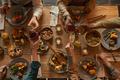 Family Enjoying Dinner Above View - PhotoDune Item for Sale