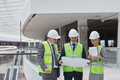 Business People Inspecting Construction of Shopping Mall - PhotoDune Item for Sale