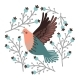 Bird and Winter Berry Set - GraphicRiver Item for Sale
