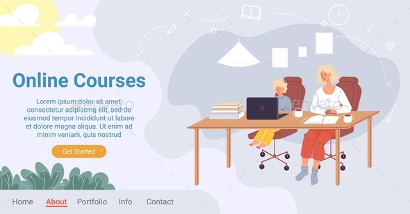 Online Education Course for Children Landing Page