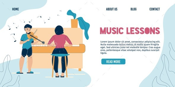 Music Lesson at Home or in Classroom Landing Page