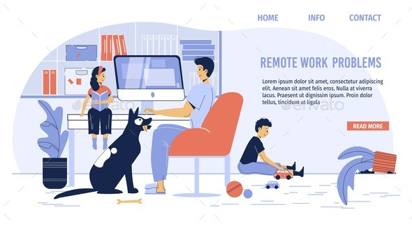 Remote Work Problem Troubleshooting Landing Page