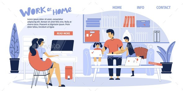 Home Situation on Isolation Landing Page Design