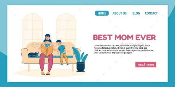 Motherhood or Family Activity Landing Page Design