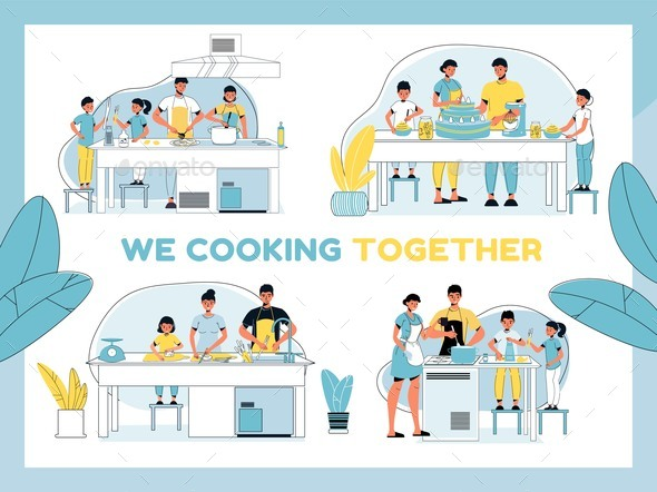 Parent Kid Best Culinary Team Cooking Together Set