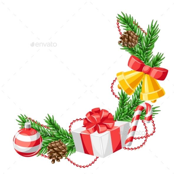 Merry Christmas Decorative Element