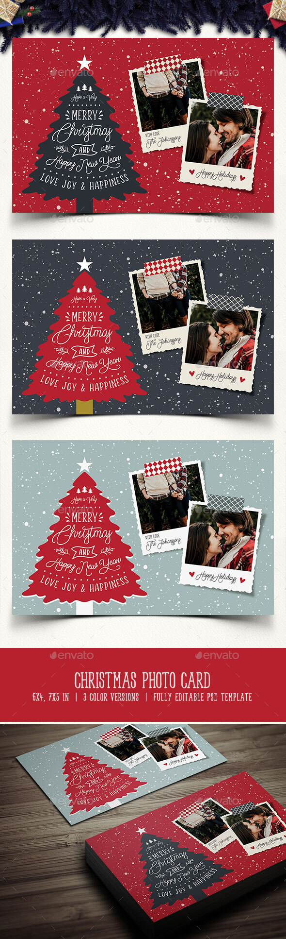 Christmas Card Designs Templates From Graphicriver