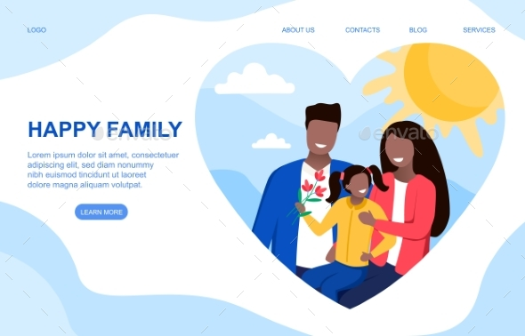 Happy Family Vector Concept