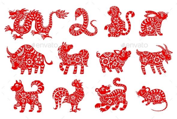 Chinese Horoscope or Zodiac Animal Symbols