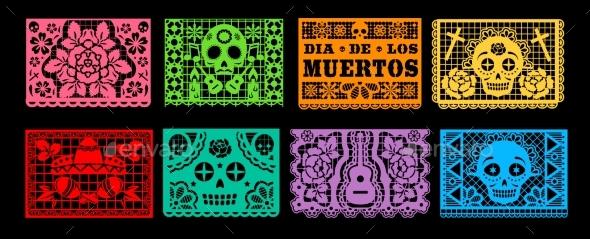 Dia De Los Muertos Papel Picado, Mexican Holiday