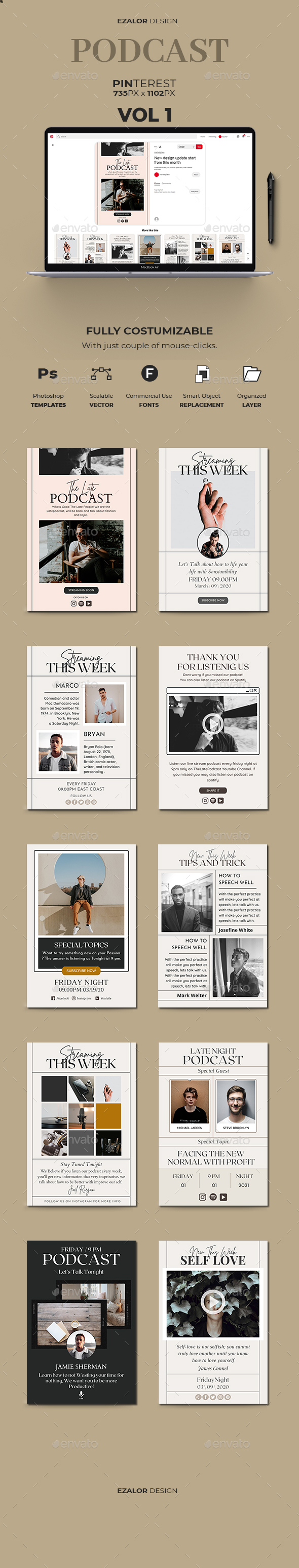 21 Pinterest Fashion Graphics, Designs & Templates