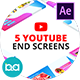 YouTube End Screens | After Effects - VideoHive Item for Sale
