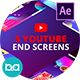 YouTube End Screens Vol.2 | After Effects - VideoHive Item for Sale