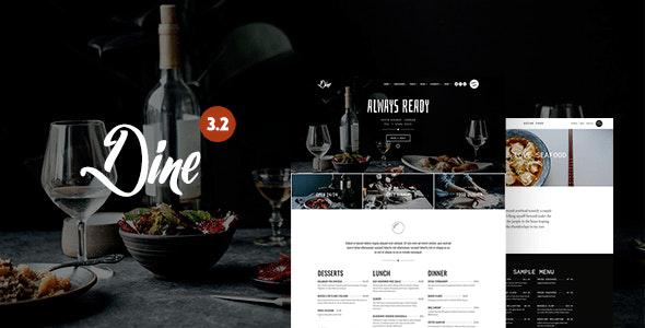 Dine - Elegant Restaurant WordPress Theme