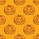 Seamless Orange Pattern. Pumpkins for Halloween - GraphicRiver Item for Sale
