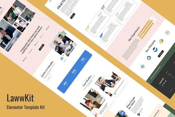 Lawwkit - Legal Practice Elementor Template Kit