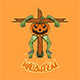 the Scarecrow pumpkin frog halloween vector Illustration - GraphicRiver Item for Sale