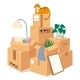 Boxes Stack for Moving. Stacked Brown Cardboard - GraphicRiver Item for Sale
