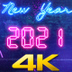 New Year Countdown 2021 Neon V1 - VideoHive Item for Sale