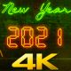 New Year Countdown 2021 Neon V2 - VideoHive Item for Sale