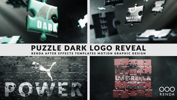 Dark Puzzle Logo Reveal
