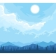 Mountains Landscape with Trees Silhouettes - GraphicRiver Item for Sale