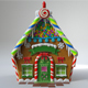 Christmas Gingerbread House - 3DOcean Item for Sale