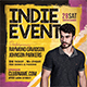 Indie Event Flyer - GraphicRiver Item for Sale
