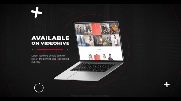 Laptop website promo