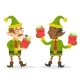 Elves with Gift Boxes - GraphicRiver Item for Sale