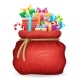 Santa Gifts Bag Christmas New Year Xmas Isolated - GraphicRiver Item for Sale