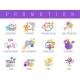 Promotion Color Icons Set - GraphicRiver Item for Sale
