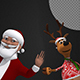 Christmas Background - Funny Santa And Reindeer (2-Pack) - VideoHive Item for Sale