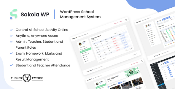 SakolaWP - WordPress School Management System
