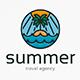 Summer Beach Island Logo Template - GraphicRiver Item for Sale