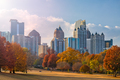 Atlanta, Georgia, USA midtown skyline from Piedmont Park - PhotoDune Item for Sale