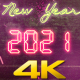 New Year Countdown 2021 Neon V3 - VideoHive Item for Sale