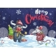 Merry Christmas Cartoon Mouse, Bull in Night - GraphicRiver Item for Sale