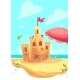 Vector Bright Illustration the Cute Sand Castle - GraphicRiver Item for Sale