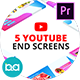 YouTube End Screens | Premiere Pro MOGRT - VideoHive Item for Sale