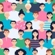 A Crowd of Young People in Colorful Clothes - GraphicRiver Item for Sale