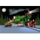 Vector Christmas Card with Cartoon Santa Express - GraphicRiver Item for Sale